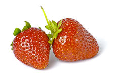 Some bright red strawberries Stock Photos