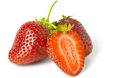 Some bright red strawberries Stock Photography