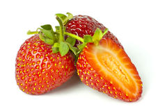 Some bright red strawberries Stock Image