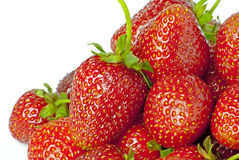Some bright red strawberries Royalty Free Stock Photo