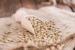 Some brown Lentils Royalty Free Stock Image