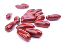 Some of brown pills Stock Photo