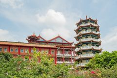 Some building of Eight Trigram Mountains Buddha Landscape. At Changhua, Taiwan Stock Photography