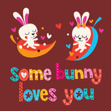 Some bunny loves you Royalty Free Stock Image