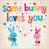 Some bunny loves you Stock Photos