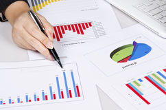 Some Business Chart On The Desk Stock Image