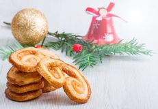 Butter biscuit with christmas decoration. Some butter biscuit with christmas decoration Stock Images