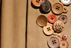 Some buttons. Some beautiful buttons on the cloth Stock Photo