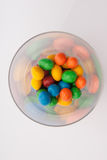 Some candy in a glass. On table Royalty Free Stock Images