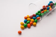 Some candy in a glass. On table royalty free stock photos