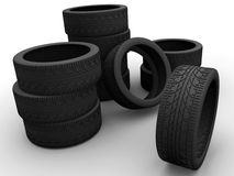 Some car tires Stock Images