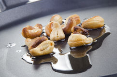 Some cashews with olive oil Royalty Free Stock Images
