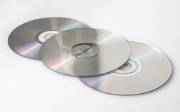 Some CDs. Some compact disks to store files and information Royalty Free Stock Image