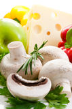 Some champignon,green parsley,rosemary vegetables Stock Image