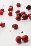 Some cherrys on the table. A lot of cherrys on the table royalty free stock photography