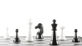 Some Chess Pieces. On the Chessboard Royalty Free Stock Photography