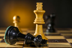 Free Some Chess Wooden Pieces Stock Images - 47865464