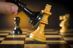 Free Some Chess Wooden Pieces Stock Images - 47865504