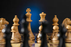 Some Chess Wooden Pieces Stock Photos