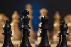 Some Chess Wooden Pieces Stock Images