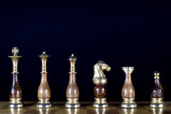 Chessmen on the Chessboard Royalty Free Stock Image