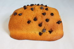 Some chocolate chip bread with chocolate. Royalty Free Stock Photo