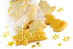 Some christmas cookies. On white Royalty Free Stock Photography