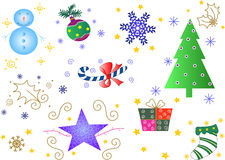Some christmas ornaments Royalty Free Stock Photos