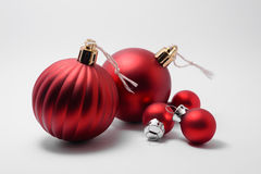 Some christmas tree balls. On white background Royalty Free Stock Photo