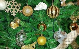 Some Christmas tree decorations Royalty Free Stock Images