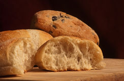 Some ciabatta breads Royalty Free Stock Photos