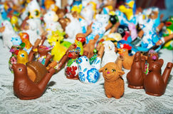 Some clay toys on the counter Royalty Free Stock Photos
