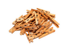 Some clothespins Stock Photography