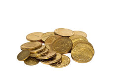 Some coins of Gold Stock Photos