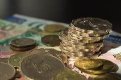 Some coins and notes of Hong Kong dollars. Close up Royalty Free Stock Image