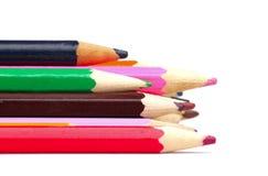 Some color pencils Stock Photos