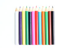 Some color pencils. Isolated on the white background Royalty Free Stock Photos