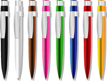 Some color souvenir pens royalty free stock image