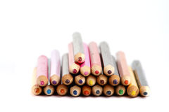 Some colored pencils. Isolated on the white background Stock Images