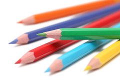 Some colored pencils (). Some colored pencils  on white background Royalty Free Stock Image