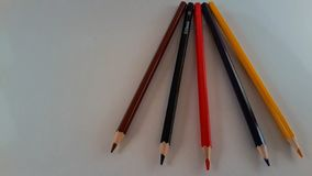Some colored pencils royalty free stock image