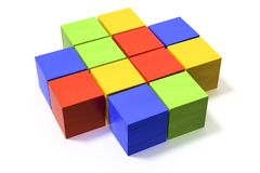Some colorful building blocks Royalty Free Stock Photography