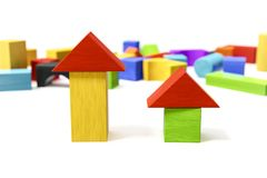 Some colorful building blocks Stock Photos
