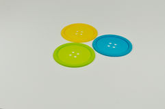 Some colorful coasters. Made of plastic Stock Photos