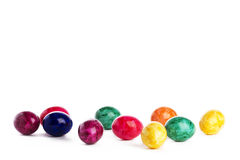 Some colorful easter eggs. On white background Stock Photography