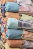 Some colorful loinclothes. Pile of colorful loinclothes in order to sell Royalty Free Stock Photo