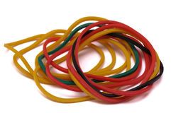 Some colorful rubber bands Royalty Free Stock Photos
