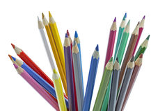 Some colour pencils. Colour pencils on white background Stock Image