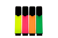 Some colourful office marker. On white background royalty free stock image