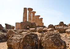 Remains of the temple of Heracles Stock Photo